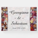 [ Thumbnail: Autumn Wedding Fallen Leaves + Customized Names Guest Book ]