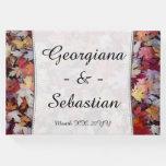 [ Thumbnail: Autumn Wedding Fallen Leaves + Customized Names Guest Book ]