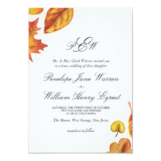 Autumn Wedding Invitation