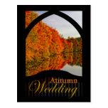 Autumn Wedding Invitation Fall Wedding Postcard