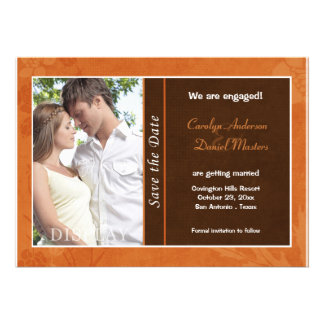 Autumn Wedding Photo Save the Date Invitations