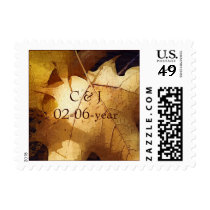 autumn wedding Postage