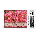 Autumn Wedding Postage Stamp