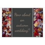 [ Thumbnail: Autumn Wedding Proposal + Rustic Fallen Leaves ]