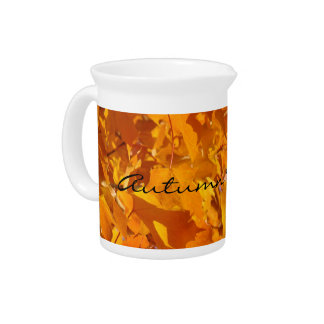 Autumn Wedding Reception drink ptchers Leaves Drink Pitcher