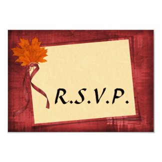 Autumn Wedding RSVP Card