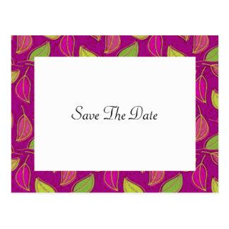 Autumn Wedding Save The Date Postcard
