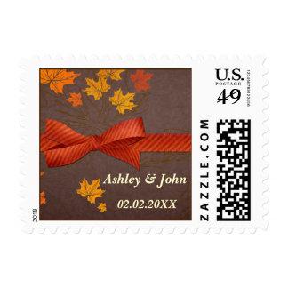 Autumn wedding stamps