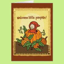 Autumn Welcome New Baby Card (for fall)