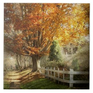Autumn - Westfield, NJ - I love autumn Ceramic Tiles