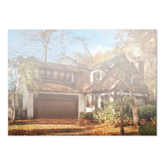 "Autumn - Westfield, NJ - Lost in the woods.jpg 5"" X 7"" Invitation Card"