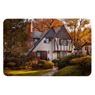 Autumn - Westfield, NJ - Visting grandpa's Rectangle Magnet