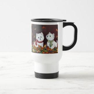 Autumn Westie Travel Mug
