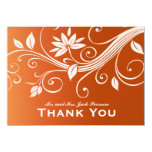 Autumn Whimsy White Pumpkin Personalized Thank You Card