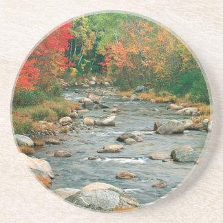 Autumn White Mountains New Hampshire Sandstone Coaster