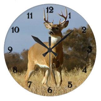 Autumn Whitetail Buck Wall Clocks