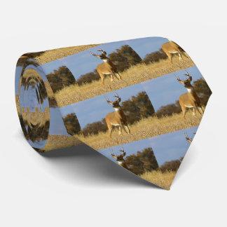 Autumn Whitetail Buck Men's Tie