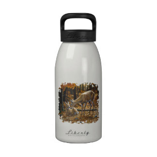 Autumn Whitetail Doe and Fawn Reusable Water Bottles