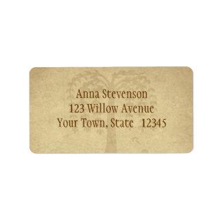 Autumn Willow Tree Label