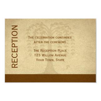 Autumn Willow Tree Reception Card