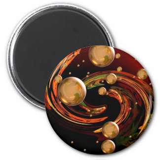 Autumn wind 2 inch round magnet