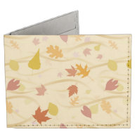 Autumn Wind Background Billfold Wallet