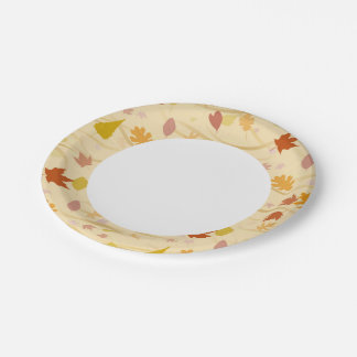 Autumn Wind Background Paper Plate