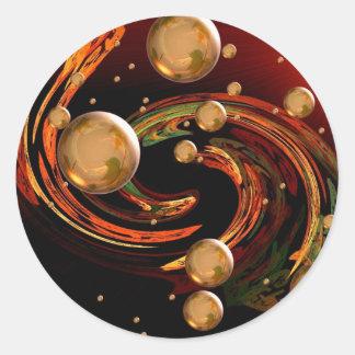 Autumn wind classic round sticker