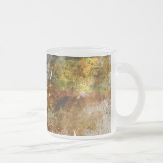Autumn Wine Barrel in a Vineyard Frosted Glass Coffee Mug