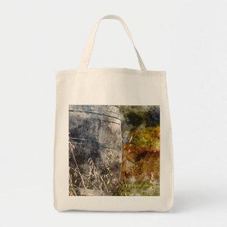 Autumn Wine Barrel in a Vineyard Tote Bag