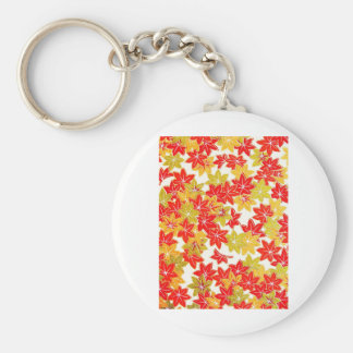 Autumn winter Leafs natural  Green Trees Earth Bea Keychain