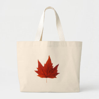 Autumn winter Leafs natural natural  Green Trees E Large Tote Bag