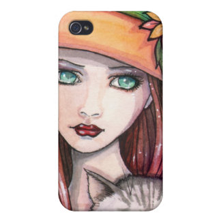 Autumn Witch and Cat iPhone Case