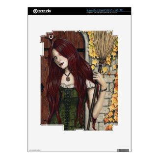 Autumn Witch Gothic Fantasy Art iPad 3 Skin