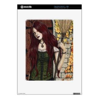 Autumn Witch Gothic Fantasy Art iPad Skin