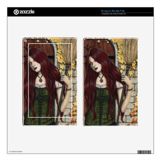 Autumn Witch Gothic Fantasy Art Kindle Fire Skin