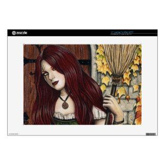 Autumn Witch Gothic Fantasy Art Laptop Skin