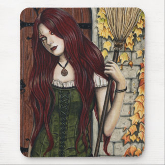 Autumn Witch Gothic Fantasy Art Mousepad