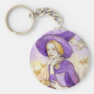 Autumn Witch Keychain
