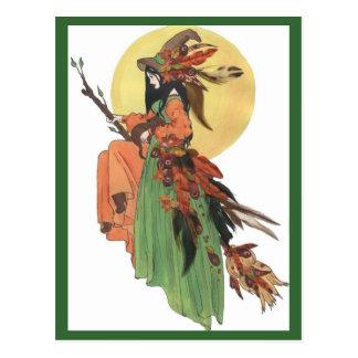 Autumn Witch Postcard