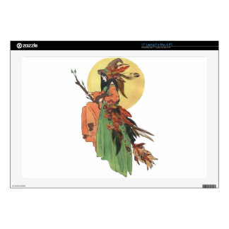 """Autumn Witch Decal For 17"""" Laptop"""