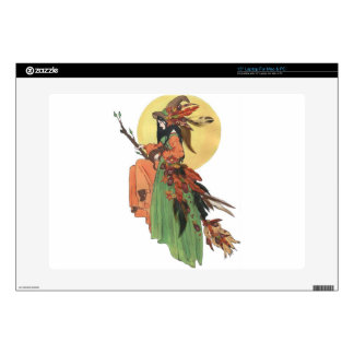 Autumn Witch Decal For Laptop