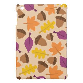 autumn with acorn and oak leaves iPad mini case