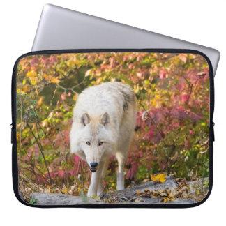 Autumn Wolf Laptop Sleeve