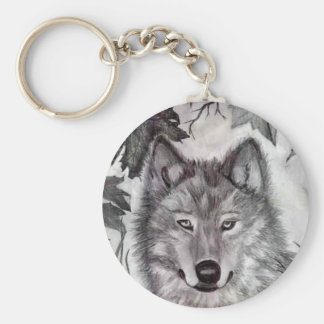Autumn Wolfe pencil drawing Keychain