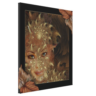 Autumn Wood Nymph Wrapped Canvas Art Canvas Print