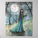 Autumn Wood Vampire Gothic Poster Print print
