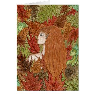Autumn Woodland - Note Card