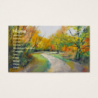 Autumn Woodland Path Business Card