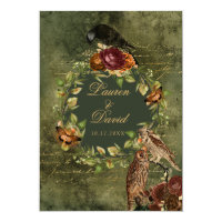 Autumn Woodland Save The Date Wedding Invitations